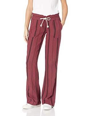 Roxy Junior's Oceanside Yarn Dyed Beach Pant,XL