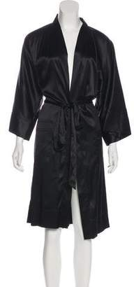 Dolce & Gabbana Silk-Blend Short Sleeve Robe w/ Tags