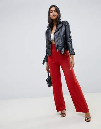 Asos (エイソス) - ASOS DESIGN wide leg pants with deep waistband