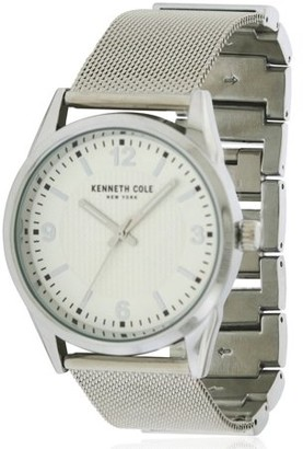 Kenneth Cole New York Kenneth Cole 10030780 Classic Men Silver Steel Bracelet With White Analog Dial