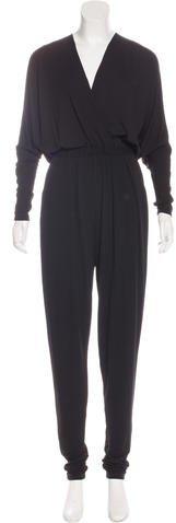 Michael Kors Long Sleeve Skinny-Leg Jumpsuit