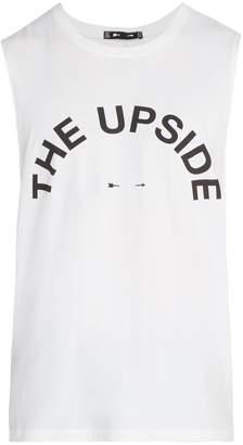 The Upside Big Logo round-neck cotton tank top