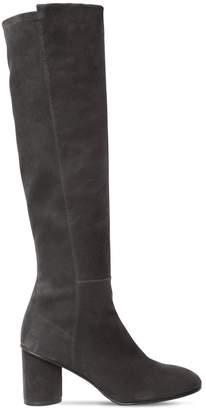 Stuart Weitzman 75mm Eloise Stretch Suede Boots
