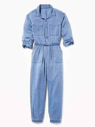 Old Navy Soft Twill Utility Jumpsuit for Girls