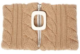 J.W.Anderson Zip Through Wool Neck Band - Womens - Camel