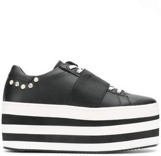 Moa Master Of Arts striped flatform sneakers