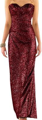 Ever Girl Women's Sweetheart Sequins Long Bridesmaid Dresses Prom dresses Wedding Party Gown US