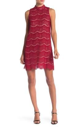 Love, Fire Sleeveless Lace Trapeze Dress