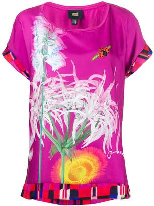 Class Roberto Cavalli printed short-sleeved blouse