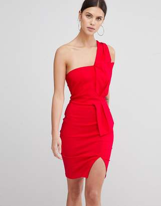 Vesper One Shoulder Split Pencil Dress