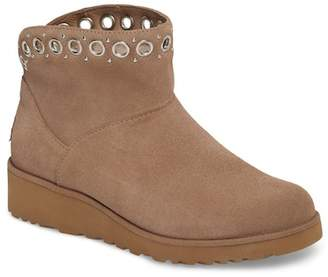 UGG Riley Grommet Genuine Shearling Wedge Boot