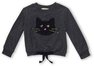 Truly Me Toddler Girls) Kitty Long Sleeve Sweatshirt