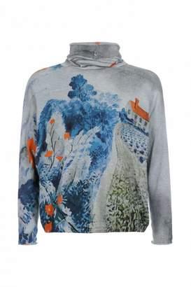 High Inspiring Soft Funnel Neck Sweater - Medium