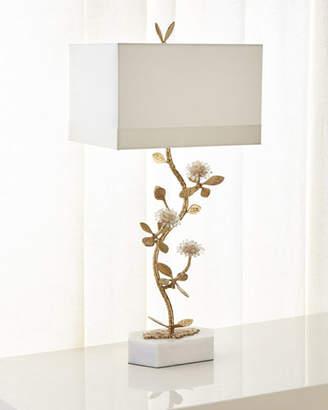 John-Richard Collection Quartz Flower Table Lamp