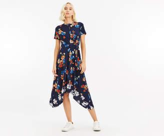 Oasis PRINT HANKY HEM DRESS