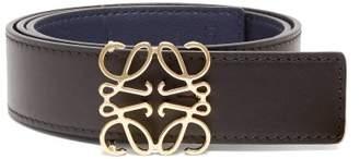 Loewe Anagram Leather Belt - Womens - Black