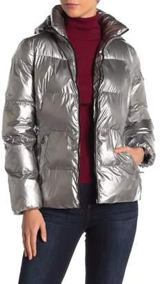 BCBGeneration Missy Metallic Hooded Puffer Jacket
