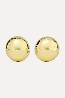 Ippolita Classico Pinball 18-karat Gold Clip Earrings