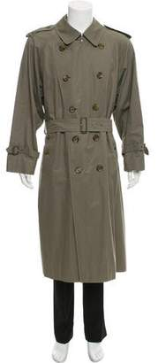 Burberry Check-Lined Trench Coat