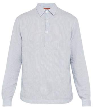 Barena Venezia - Striped Cotton Seersucker Shirt - Mens - Blue Multi