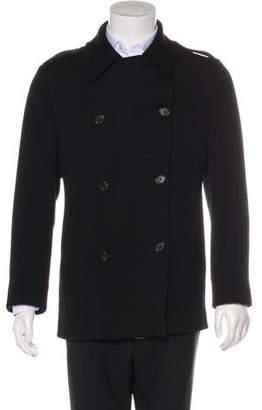 Ralph Lauren Black Label Wool Notch-Lapel Peacoat