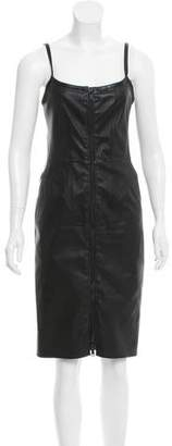 Givenchy Zip-Up Leather Dress