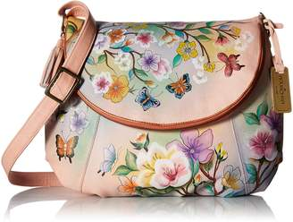 Anuschka Handpainted Leather Large Flap-Over Convertible