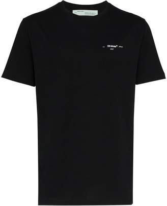 Off-White arrow logo print short sleeve cotton t shirt