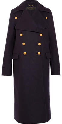 Burberry Wool-felt Coat - Navy