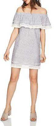 1 STATE 1.STATE Off-the-Shoulder Mini Dress