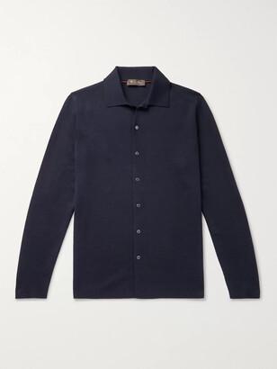 Loro Piana Empire Slim-Fit Wish Virgin Wool Shirt - Men - Blue