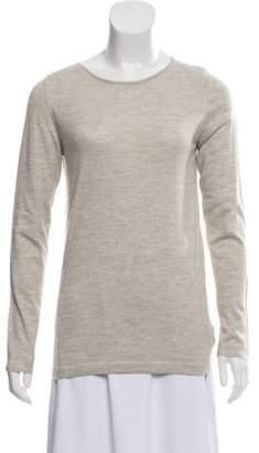 Brunello Cucinelli Cashmere-Blend Long Sleeve Top gold Cashmere-Blend Long Sleeve Top