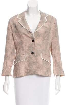 Elizabeth and James Linen Two-Button Blazer