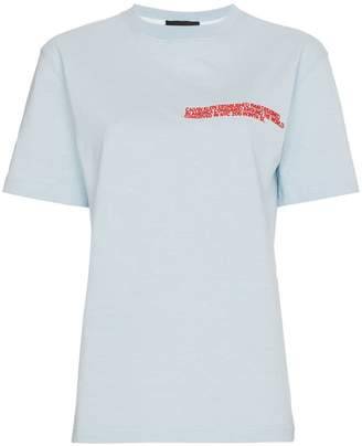 Calvin Klein embroidered cotton t shirt