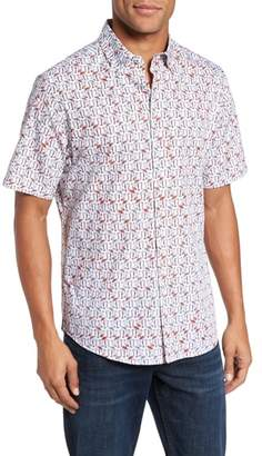 Vilebrequin Slim Fit Flamingo Sport Shirt