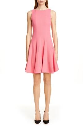 Emporio Armani Wool Crepe Fit & Flare Dress