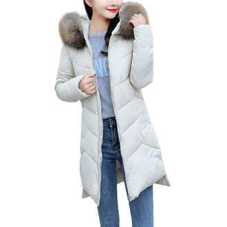Liraly Womens Coats Winter Warm Faux Fur Coat Hooded Thick Warm Slim Long Jacket Overcoat