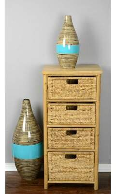 Bay Isle Home Elim 3 Drawer Bamboo Accent Chest Bay Isle Home