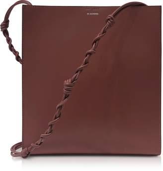 Jil Sander Genuine Leather Tangle Medium Knitted Shoulder Bag