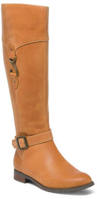 High Shaft Leather Riding Boots