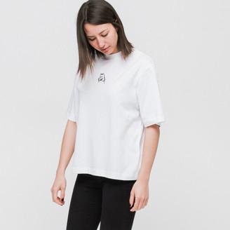 Lazy Oaf W - White I Prefer Dogs T Shirt - S - White