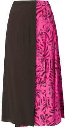 Marni cat printed full skirt