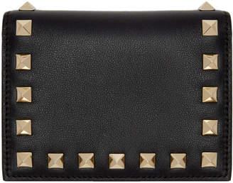 Valentino Black Garavani Small Rockstud Wallet