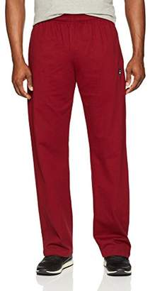 Flying Ace Men's Open Bottom Jersey Pant with Logo Embroidery