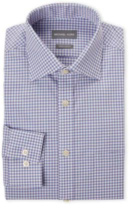 Michael Kors Purple & Blue Regular Fit Check Dress Shirt