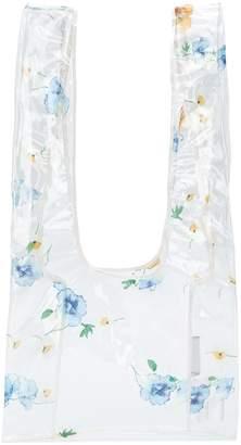 Ganni petunia transparent bag
