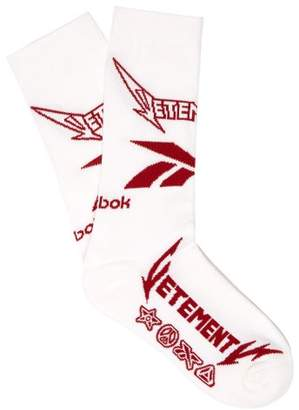 Vetements X Reebok Metal Cotton Blend Socks - Mens - White