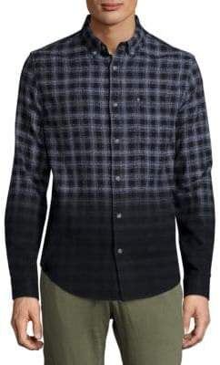 Madison Supply Ombre Plaid Woven Shirt