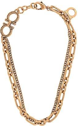 Salvatore Ferragamo chain charm necklace