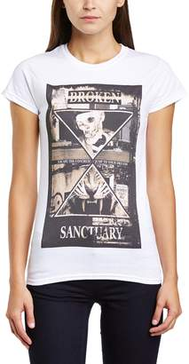 Sanctuary Minted Fashion MINTED FASHION Women's Broken Slim Fit Short Sleeve T-Shirt